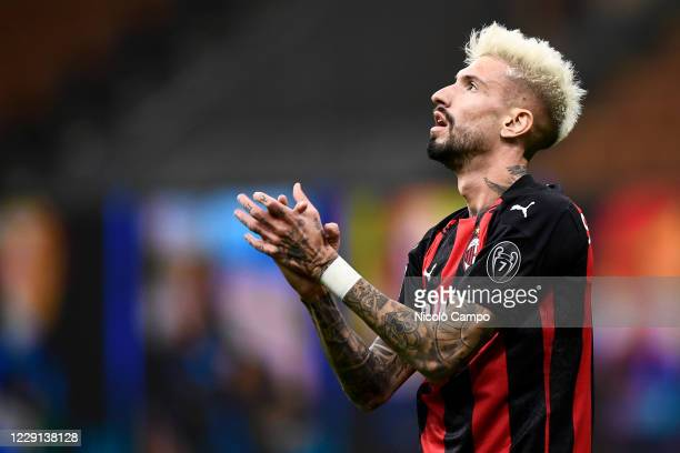 Samu Castillejo of AC Milan looks dejected during the Serie A football match between FC Internazionale and AC Milan AC Milan won 21 over FC...