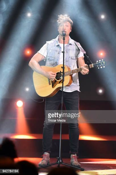Samu Haber of the finnish band Sunrise Avenue during the Nickelodeon Kids Choice Awards on April 6 2018 in Rust Germany