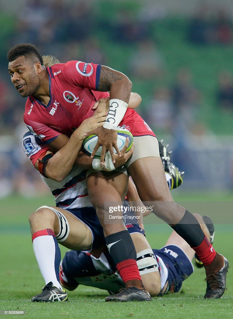 Super Rugby Rd 3 - Rebels v Reds : News Photo