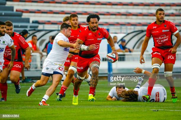 Samu Manoa of Toulon during the preseason match between Rc Toulon and Clermont Auvergne at Felix Mayol Stadium on August 11 2017 in Toulon France