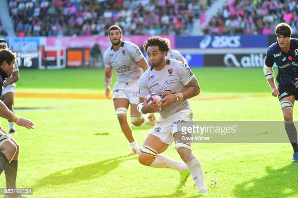 Samu Manoa of Toulon during the Top 14 match between Stade Francais Paris and RC Toulon at Stade Jean Bouin on September 24 2017 in Paris France