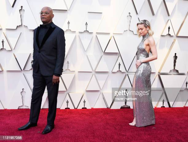 Samual L Jackson and Brie Larson attend the 91st Annual Academy Awards at Hollywood and Highland on February 24 2019 in Hollywood California
