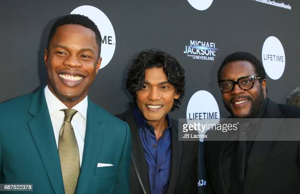 Samuel Adegoke, Navi and Chad L. Coleman attend Lifetime Hosts Fan Gala and Advance Screening for 'Michael Jackson: Searching For Neverland' on May...