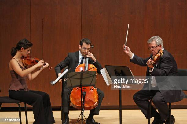 Samuel Adler 85th Birthday Tribute at Paul Hall at the Juilliard School on Monday night October 28 2013This imageFrom left Michelle Ross Amir Eldan...