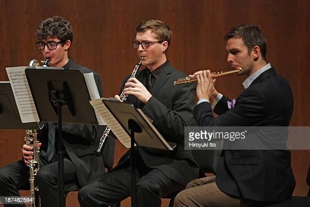 Samuel Adler 85th Birthday Tribute at Paul Hall at the Juilliard School on Monday night October 28 2013This imageFrom left Andrew O'Donnell Mitchell...
