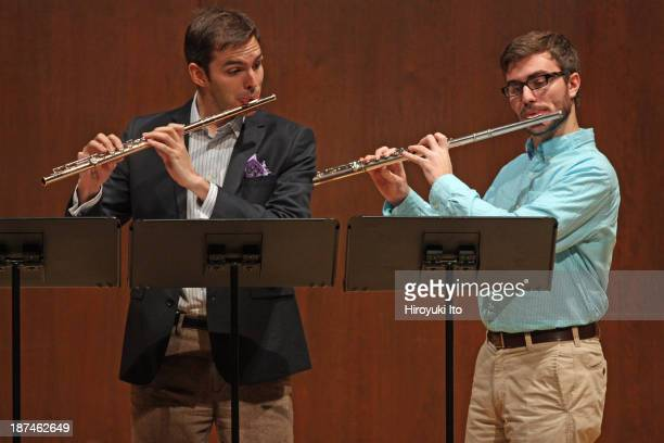 Samuel Adler 85th Birthday Tribute at Paul Hall at the Juilliard School on Monday night October 28 2013This imageDaniel James left and Jake Chabot...
