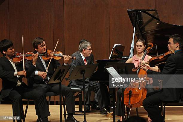 Samuel Adler 85th Birthday Tribute at Paul Hall at the Juilliard School on Monday night October 28 2013This imageJerome Lowenthal on piano with the...