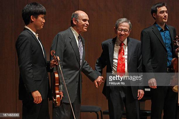Samuel Adler 85th Birthday Tribute at Paul Hall at the Juilliard School on Monday night, October 28, 2013.This image:Samuel Adler, second from left,...