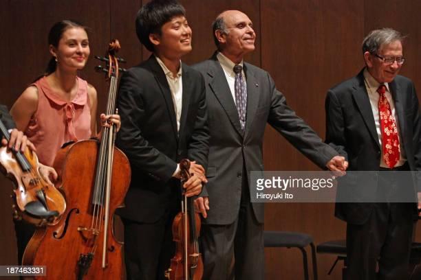 Samuel Adler 85th Birthday Tribute at Paul Hall at the Juilliard School on Monday night, October 28, 2013.This image:Samuel Adler, third from left,...