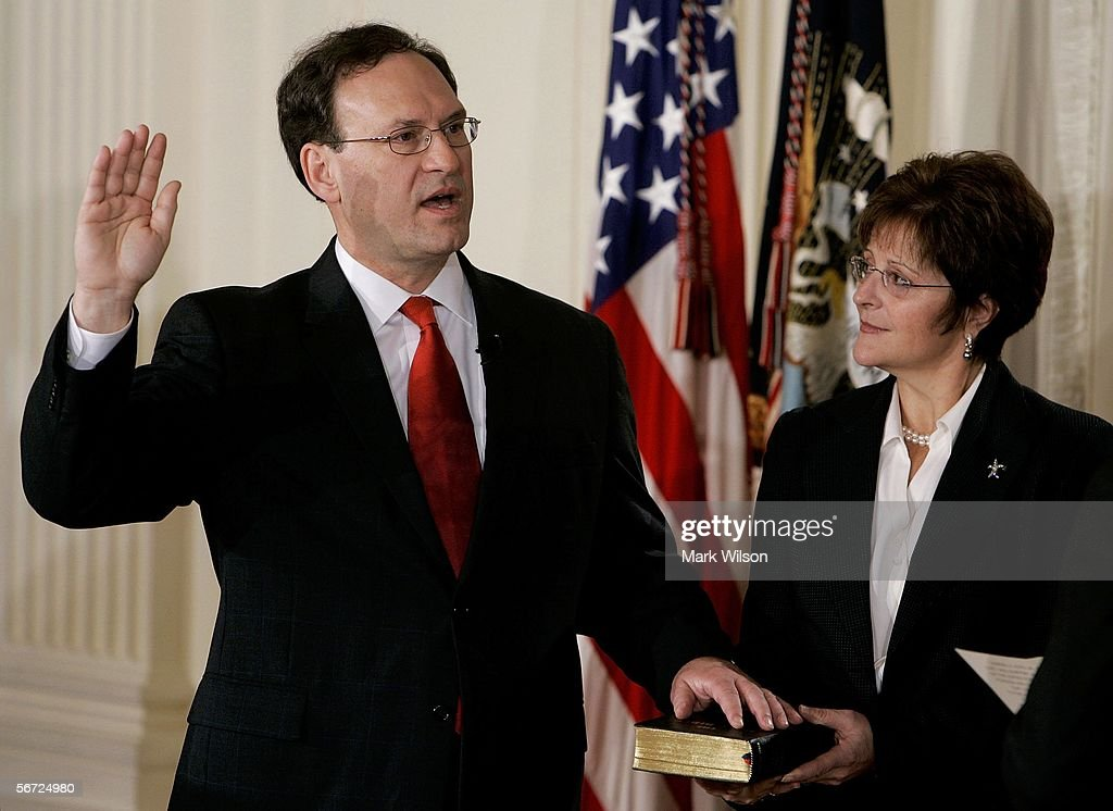 Samuel Alito Sworn In At White House