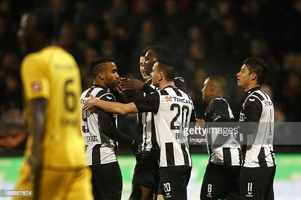 Samuel Armenteros of Heracles Almelo Geoffrey Castillion of Heracles Almelo Thomas Bruns of Heracles Almelo Samuel Armenteros of Heracles Almelo...