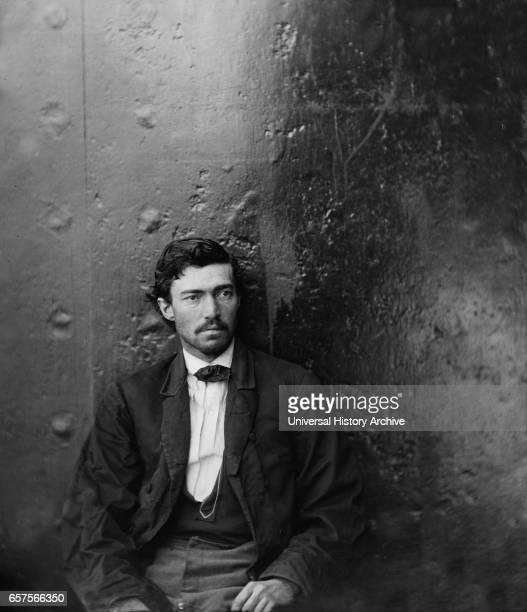 Samuel Arnold Conspirator in Assassination of US President Abraham Lincoln Seated Washington Navy Yard Washington DC USA by Alexander Gardner April...