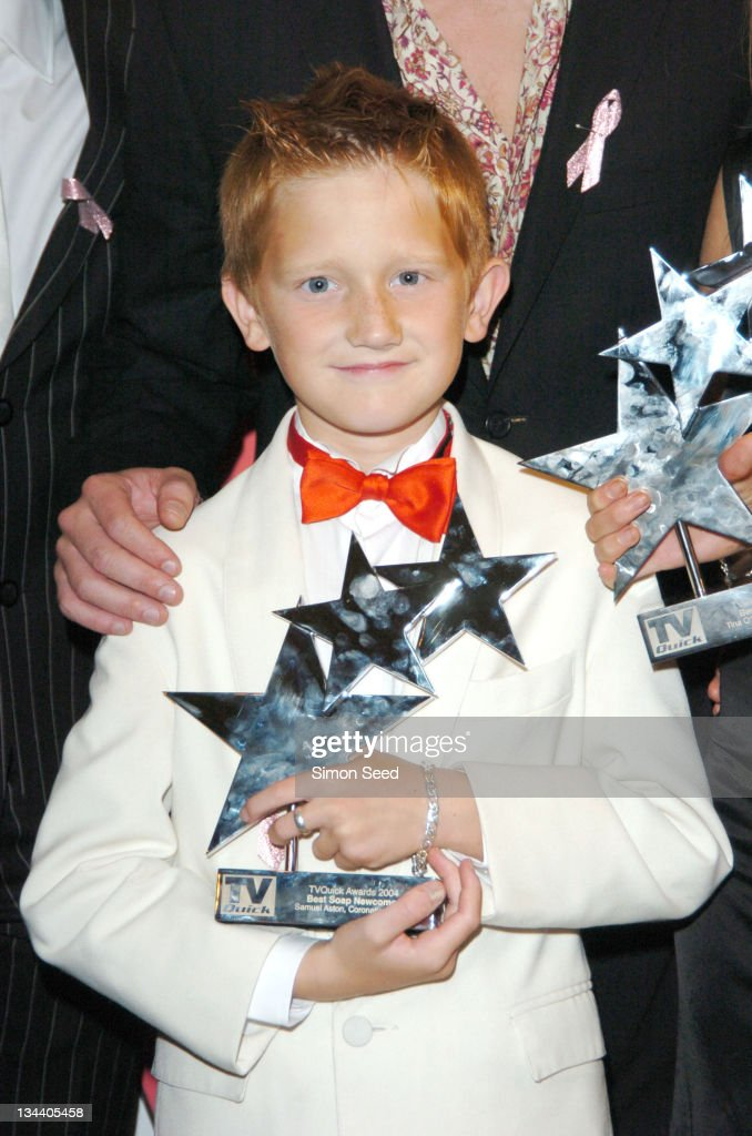 Samuel Aston during 2004 TV Quick Soap Awards - Press Room at Dorchester Hotel in London, Great Britain.