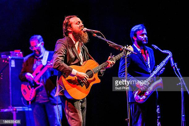Samuel Beam of Iron and Wine performs at Paramount Theatre on November 4 2013 in Seattle Washington