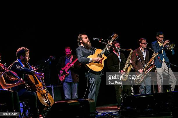 Samuel Beam of Iron and Wine performs live with his band at Paramount Theatre on November 4 2013 in Seattle Washington