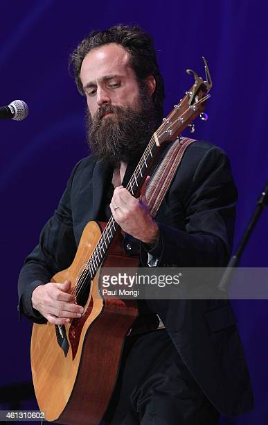 Samuel Beam of Iron and Wine performs on stage during The Life Songs of Emmylou Harris An All Star Concert Celebration at DAR Constitution Hall on...
