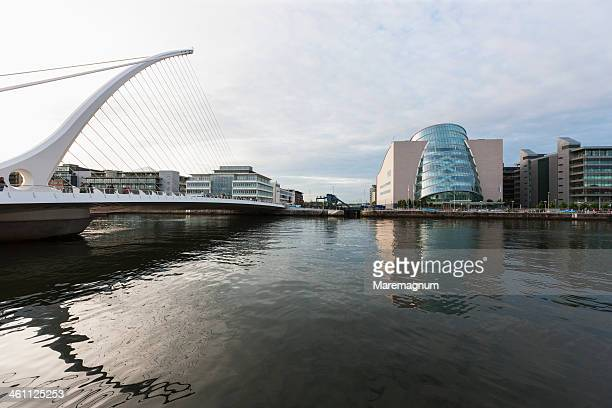samuel beckett bridge and new convention center - 2010 stock pictures, royalty-free photos & images