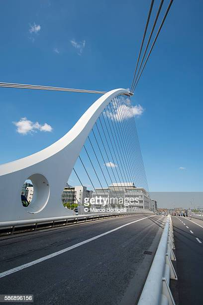 Samuel Beckett Bridge, Dublin, Leinster province, Ireland, Europe.