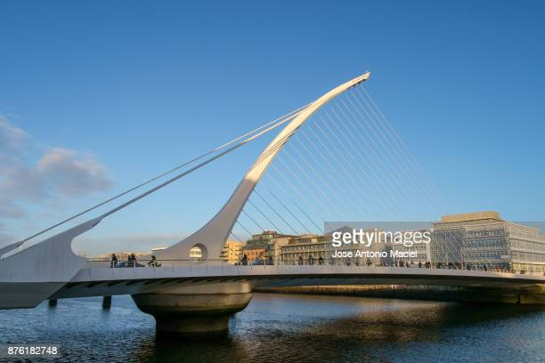 Samuel Beckett Bridge, over the Liffey River in Dublin