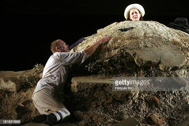 Samuel Beckett's 'Happy Days' directed by Deborah Warner at Bam Harvey Theater on Monday night January 7 2008CastFiona Shaw as Winnie right with Tim...