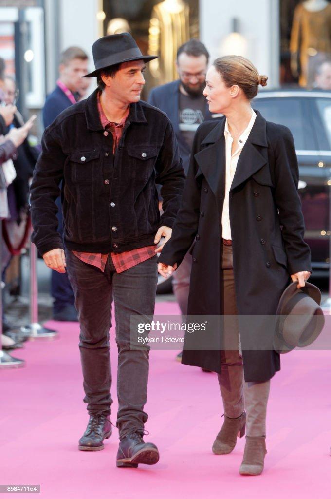 Samuel Benchetrit and Vanessa Paradis arrive at Namur Theater for the Award Ceremony of 32nd Namur International French-Language Film Festival on October 6, 2017 in Namur, Belgium.