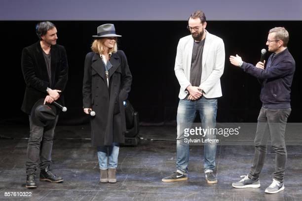 Samuel Benchetrit and Vanessa Paradis attend 32nd Namur International FrenchLanguage Film on October 4 2017 in Namur Belgium
