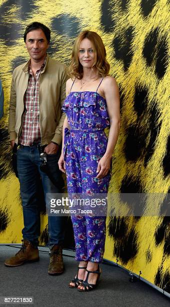 Samuel Benchetrit and Vanessa Paradis pose during the 'Chien' photocall during the 70th Locarno Film Festival on August 7 2017 in Locarno Switzerland
