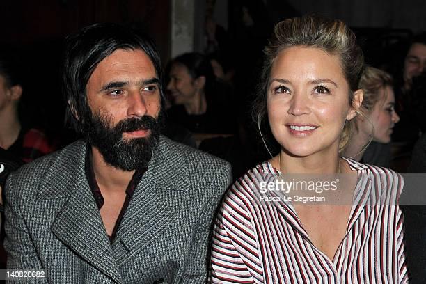 Samuel Benchetrit and Virginie Efira attends the JeanCharles de Castelbajac ReadyToWear Fall/Winter 2012 show as part of Paris Fashion Week at...