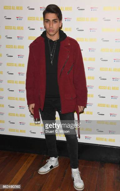 Samuel Bensoussan arrives at the 'Access All Areas' VIP gala screening held at Proud Camden on October 17, 2017 in London, England.