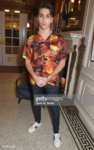 Samuel Bensoussan attends the launch of Teresa Tarmey's new 'at home facial system' at Mortimer House, sponsored by CIROC, on January 25, 2018 in...