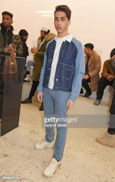 Samuel Bensoussan attends the What We Wear x Axel Arigato pop up shop launch party on February 28 2018 in London England