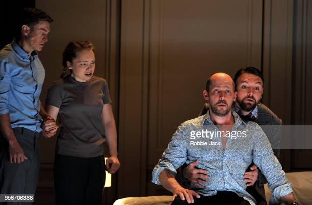 Samuel Boden as Boy Ocean BarringtonCook as Girl Stephane Degout as King and Gyula Orendt as Gaveston in the Royal Opera's production of Martin...