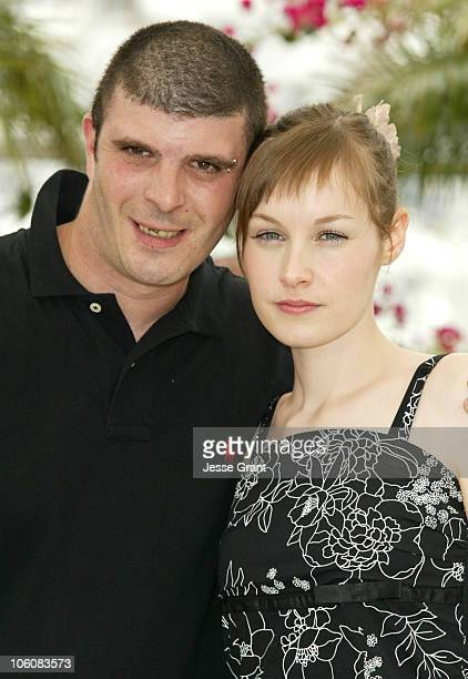 Samuel Boidin and Adelaide Leroux during 2006 Cannes Film Festival 'Flandres' Photocall at Palais des Festival Terrace in Cannes France