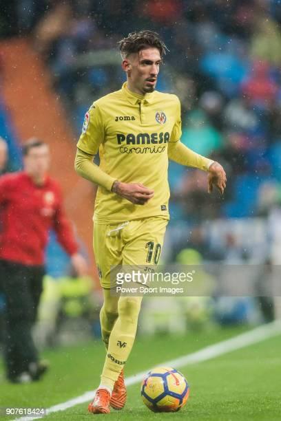 Samuel Castillejo Azuaga Samu Castillejo of Villarreal CF in action during the La Liga 201718 match between Real Madrid and Villarreal CF at Santiago...