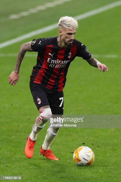 Samuel Castillejo of AC Milan during the UEFA Europa League Group H stage match between AC Milan and AC Sparta Praha at San Siro Stadium on October...