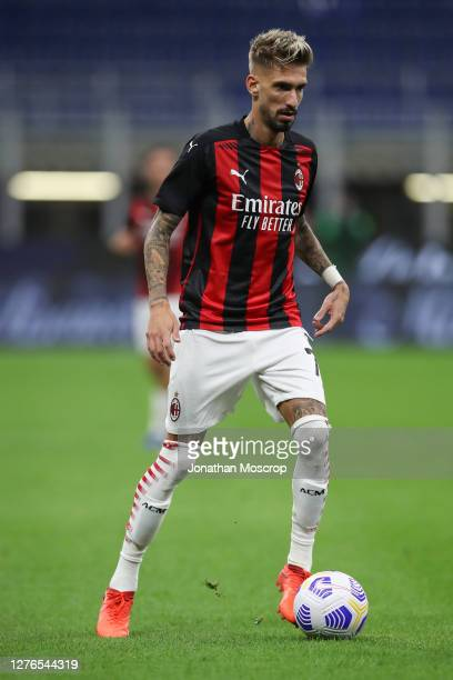 Samuel Castillejo of AC Milan during the UEFA Europa League third qualifying round match between AC Milan and Bodo Glimt at Stadio Giuseppe Meazza on...