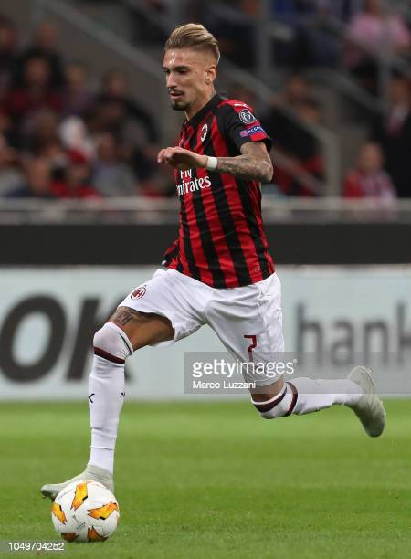 Samuel Castillejo of AC Milan in action during the UEFA Europa League Group F match between AC Milan and Olympiacos at Stadio Giuseppe Meazza on...