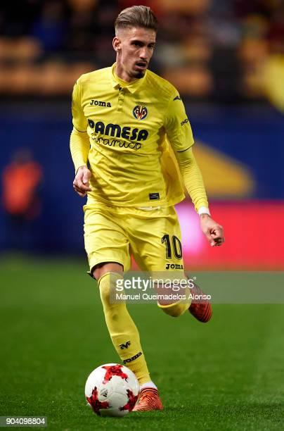 Samuel Castillejo of Villarreal in action during the Copa del Rey Round of 16 second Leg match between Villarreal CF and Leganes at Estadio de La...