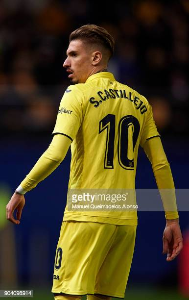 Samuel Castillejo of Villarreal looks on during the Copa del Rey Round of 16 second Leg match between Villarreal CF and Leganes at Estadio de La...
