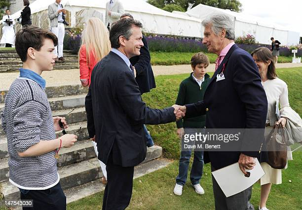 Samuel Chatto Daniel Chatto Arthur Chatto Arnaud Bamberger and Lady Sarah Chatto attend the Cartier Style Luxury Lunch at the Goodwood Festival of...