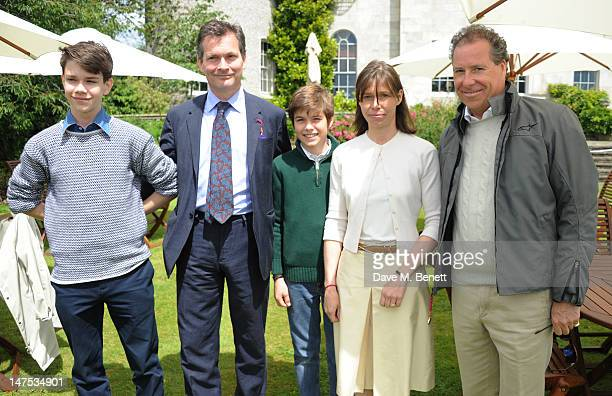 Samuel Chatto Daniel Chatto Arthur Chatto Lady Sarah Chatto and Viscount David Linley attends the Cartier Style Luxury Lunch at the Goodwood Festival...