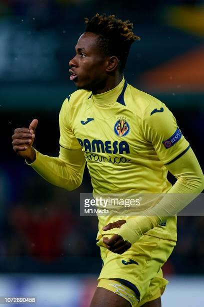 Samuel Chimerenka Chukweze of Villarreal CF celebrates a goal after scoring during the UEFA Europa League Group G match between Villarreal CF and FC...