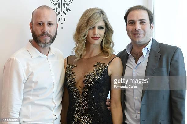 Samuel CirnansckFernanda Lima and Paulo Ferrer attend the Samuel Cirnansck pocket show during Sao Paulo Fashion Week Summer 2014/2015 at the Citroen...