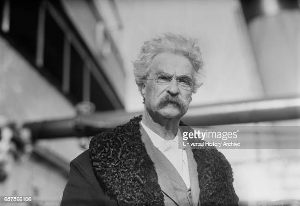 Samuel Clemens aka Mark Twain aboard the Bermudian after Trip to Bermuda New York City New York USA George Grantham Bain Collection December 20 1909
