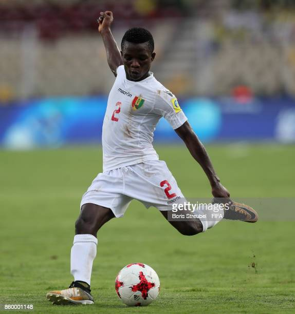 Samuel Conte of Guinea runs with the ball during the FIFA U17 World Cup India 2017 group C match between Costa Rica and Guinea at Pandit Jawaharlal...