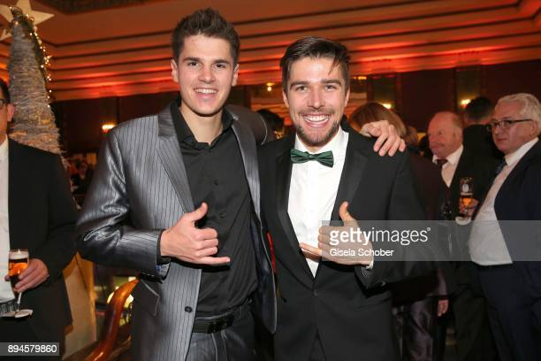 Samuel Costa and winner Johannes Rydzek during the 'Sportler des Jahres 2017' Gala at Kurhaus BadenBaden on December 17 2017 in BadenBaden Germany