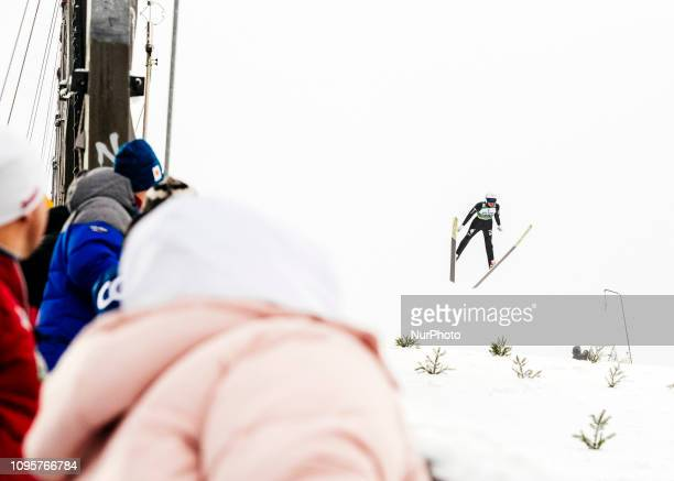 Samuel Costa competes during Nordic Combined PCR/Qualification at Lahti Ski Games in Lahti Finland on 8 February 2019
