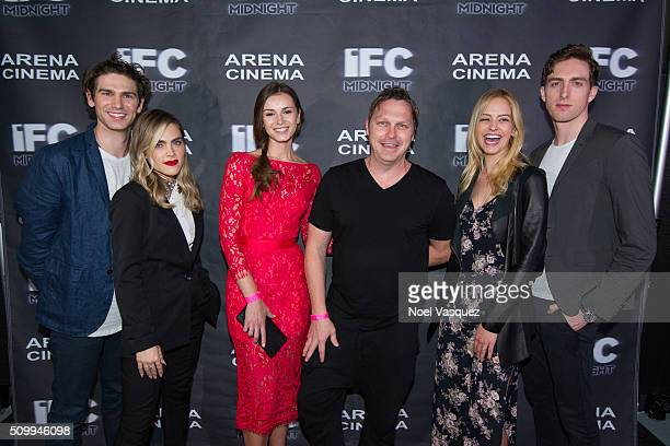 Samuel Davis Nadine Crocker Polina Sikorska James Currier Gage Golightly and Dustin Ingram attend the Cabin Fever Los Angeles Premiere at Arena...