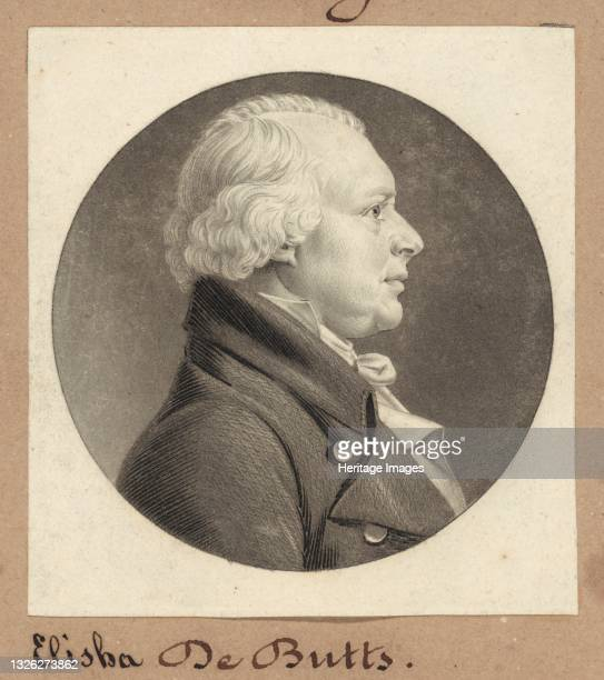 Samuel DeButts, 1805. Artist Charles Balthazar Julien Févret de Saint-Mémin.