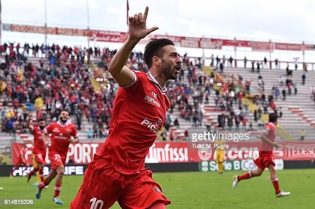 Samuel Di Carmine of Perugia celebrates after scoring the opening goal during the Serie B match between AC Perugia and AS Cittadella at Stadio Renato...